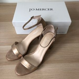 Rose Gold Classic Leather Sandal by Jo Mercer